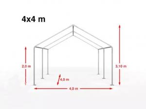 Partytent 4×4 m wit