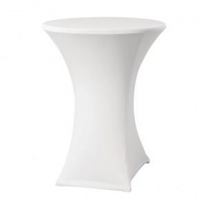 Statafel + Witte kleed Blad 85cm
