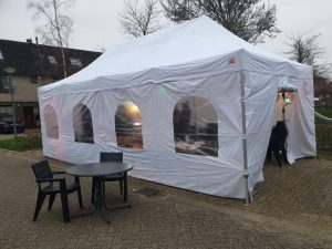 Luxe partytent 4x8m compleet easy-up